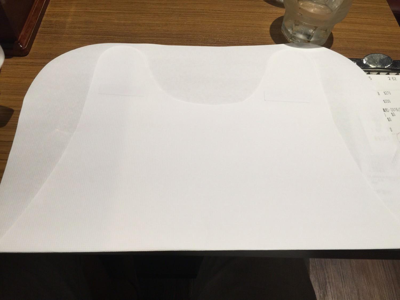 麵屋武藏貼心提供的紙圍巾