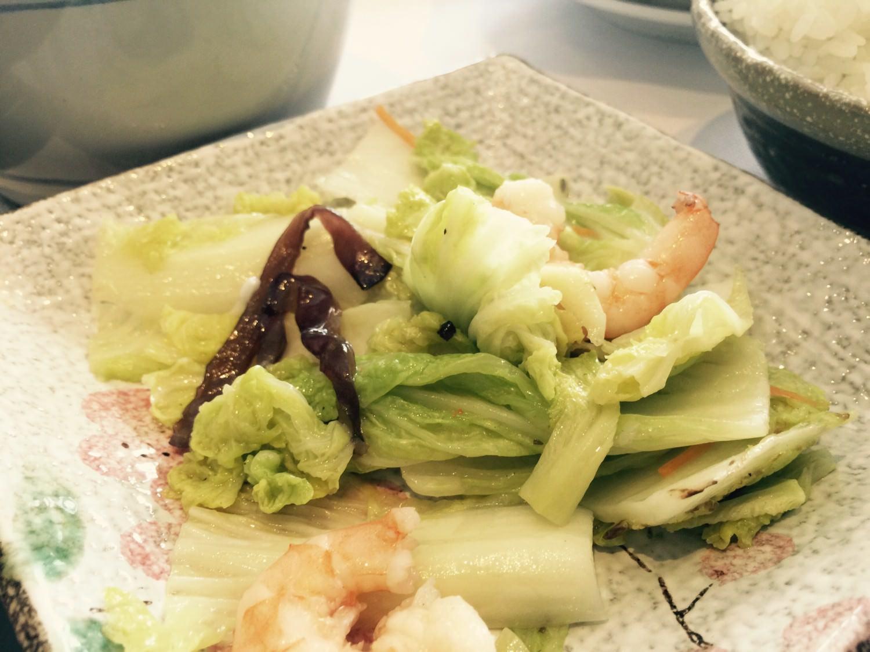白菜炒蝦仁