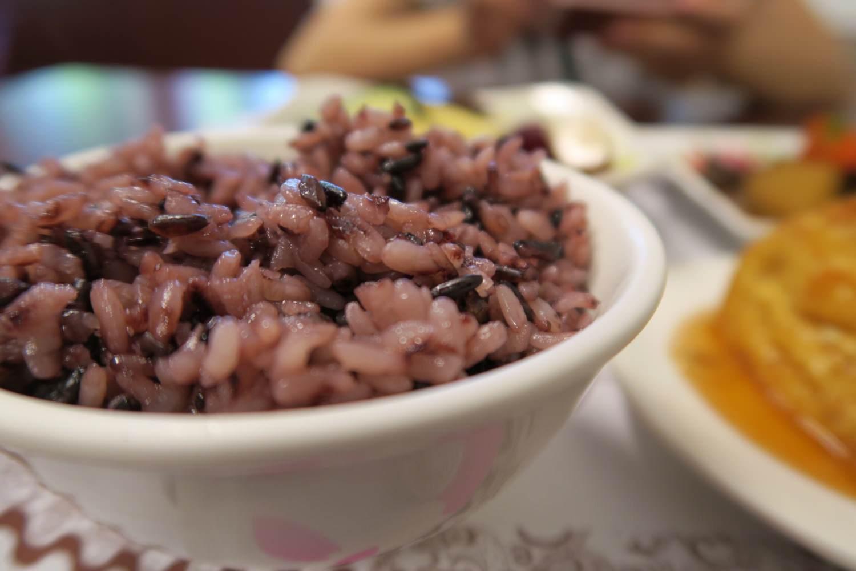 健康的紫米飯