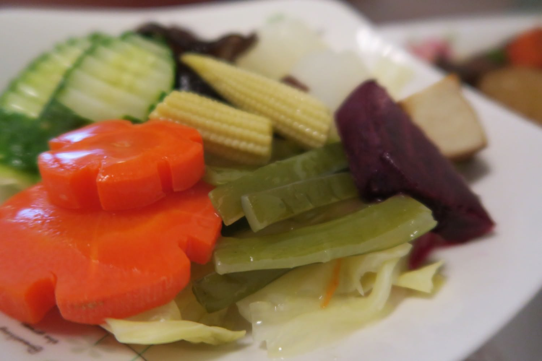 川燙的五色蔬菜盤