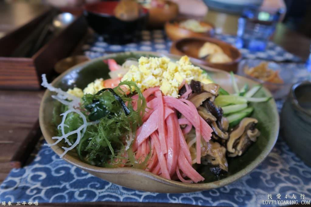 蔬菜豐富的中華涼麵