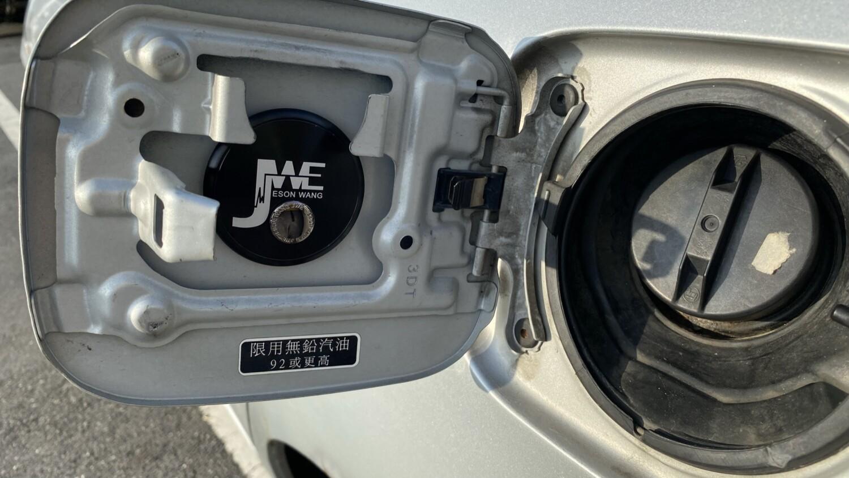 將傑珄能-R1貼在加油蓋裡側